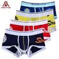 Un arciton 4 unids superventas al por mayor/al por menor mens underwear boxers de algodón cueca del boxeador de los hombres calzoncillos impresión (n-084)