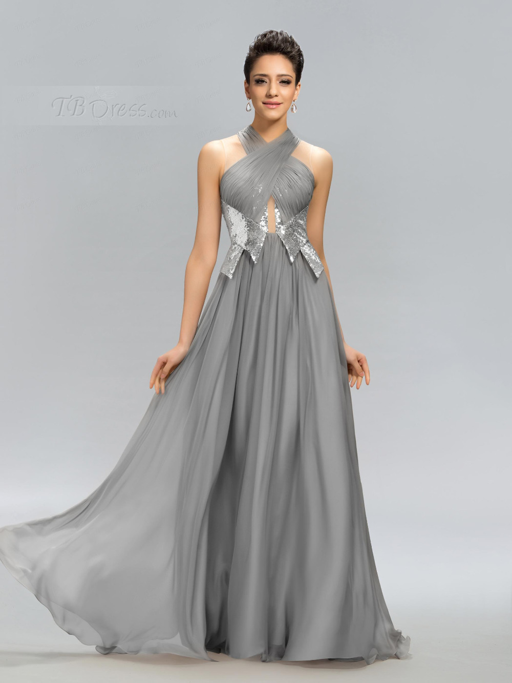Grey silvery paillette long bridesmaid dresses sleeveless halter grey silvery paillette long bridesmaid dresses sleeveless halter floor length vestidos longo madrinha shining bridesmaid dress in bridesmaid dresses from ombrellifo Gallery