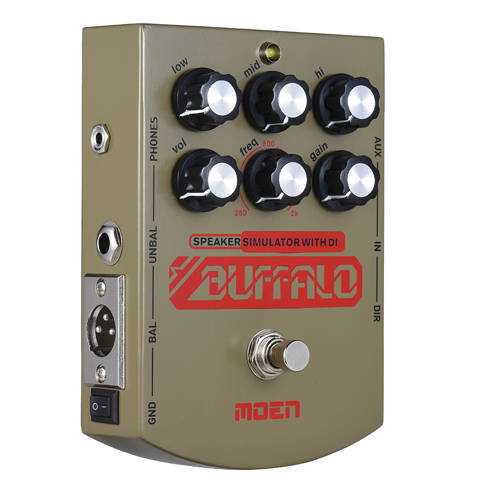 Moen Buffalo Equalizer Effect Pedal Speaker simulator with DI Headphone Ourputs True Bypass for Electric Guitar MO BA-in Guitar Parts & Accessories from Sports & Entertainment    2
