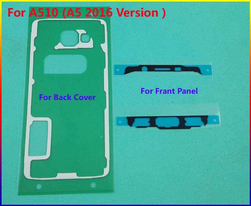 Original Housing Front Frame Sticker + Rear Back Cover case Door Adhesive For Samsung Galaxy A510 ( A5 2016 Version ) Tape Glue