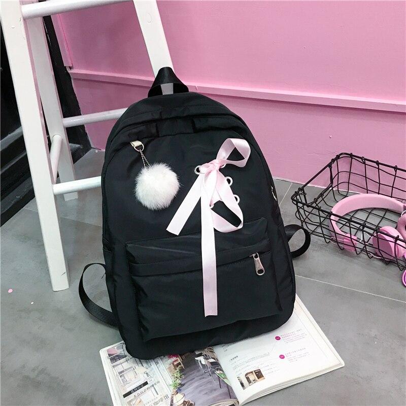 Panelled Backpack for Children Back Pack Bags for Womem Mochila Escolar Women Backpack Bow Female School Bags for Teenage Girls