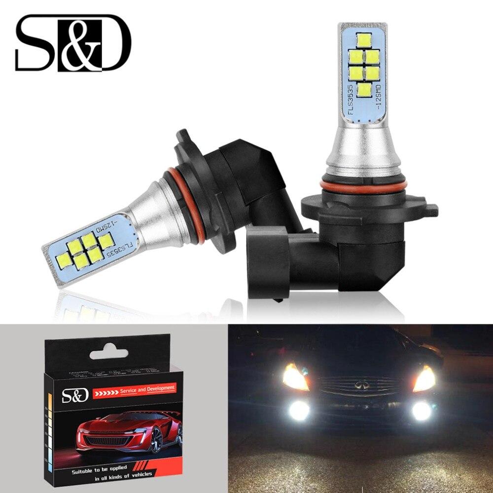 Automobiles & Motorcycles 2pcs H8 H9 H11 9006 100w 20 Smd Car Auto Led Fog Running Light Bulb Lamp Dc 12v 24v 6000k Super Bright White Car Headlight Bulbs(led)