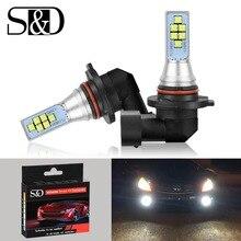 2Pcs H8 H11 LED 9006 HB4 LED chips Fog Light PSX24W H16 Bulbs Car Lights Daytime Running Lamp Driving Auto 12V 6000K White