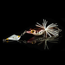 WALK FISH 1PCS Hard Fishing Lure With Propeller Large Noise Isca Frog Lure 135mm 9g Pesca Frog Sinking Snakehead Bait Fishing