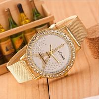 2018 high grade rhinestone watch watch gold net with queen watch ladies fashion mesh belt