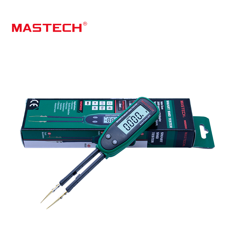 Original MASTECH Smart SMD Tester Capacitance Meter Multimeter MS8910, 3000 counts LCD display, Auto Scanning, Auto Ranging