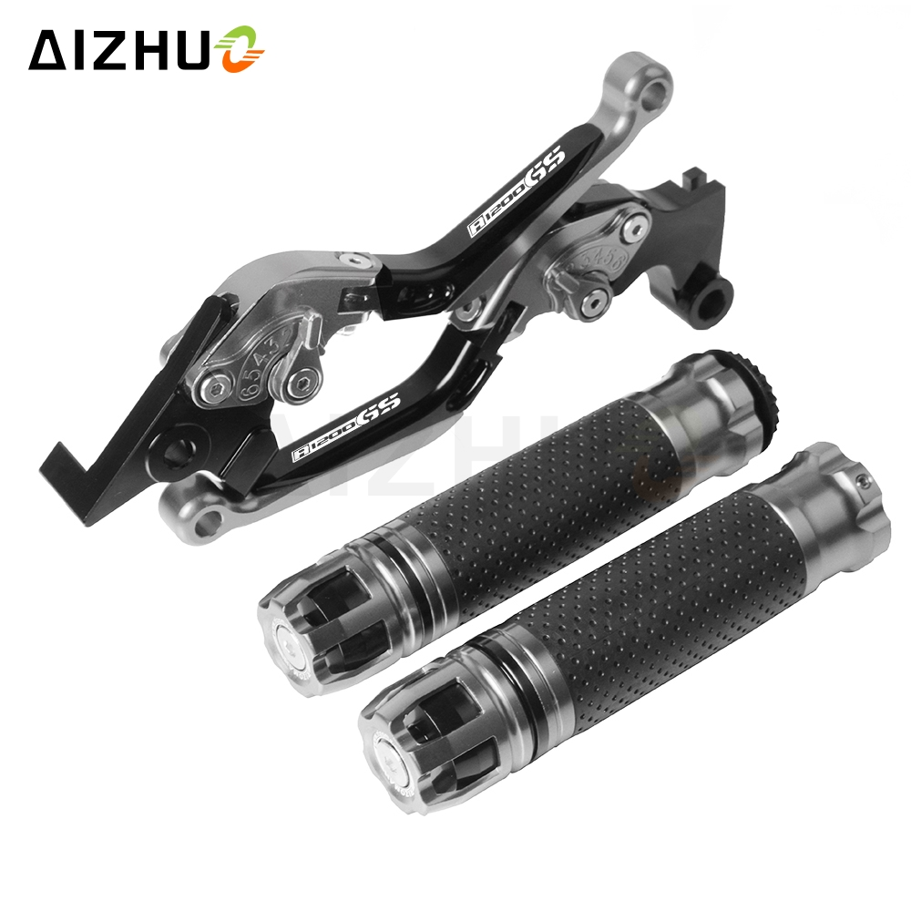 Motorcycle Brake Clutch Lever+Hand Grips For <font><b>BMW</b></font> R1200GS ADVENTURER R <font><b>1200</b></font> <font><b>GS</b></font> R 1200GS 2006-2013 <font><b>2007</b></font> 2008 2009 2010 2011 image