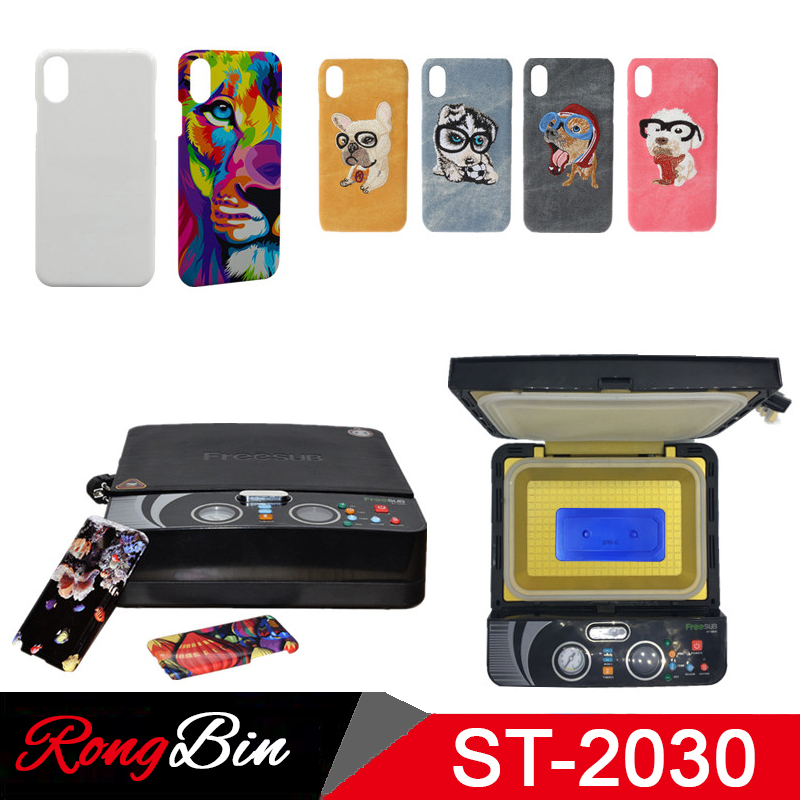 <font><b>ST2030</b></font> Small Light 3d Sublimation Vacuum Heat Press Machine 3D Phone Case Printer Heat Transfer for All Mobile Phone Case image