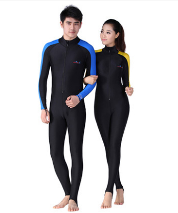 97d59794c8267 Fashion One piece Swimsuit Plus Size Wetsuits Lycra Surfing Womens surf  clothes neoprene Swimming Suit for Men Kids Scuba Diving-in Men s Costumes  from ...