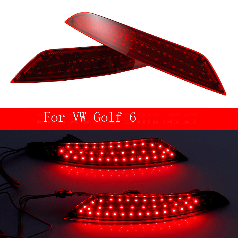 Ownsun New Multi-LED Reflector Rear Tail Light Bumper Brake Light For VW Golf 6 new multi led reflector rear tail light bumper brake light for nissan qashqai