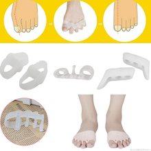 Dropship 2 Pcs 5 Typ Silikon Schutz Toe Separator Corrector Bunion Daumen Valgus Schutz Verhindert Nagel Fuß Pflege Werkzeuge