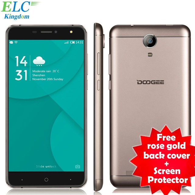 Newest 6.0'' Doogee X7 Pro Smartphone Android 6.0 MT6737 Quad Core 1280x720 2GB+16GB 13MP 3700mAh OTG 4G LTE Cellphone