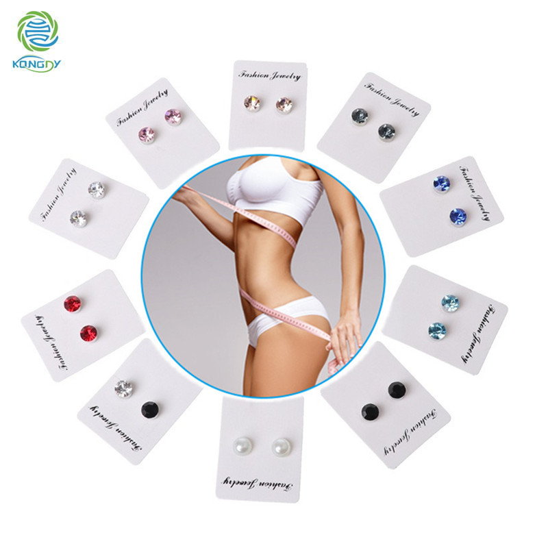 KONGDY 6 Pcs Magnet Weight Loss Products Magnetic Therapy Slimming Earring Stimulate Acupoints Promote Metabolism Eliminate Fat