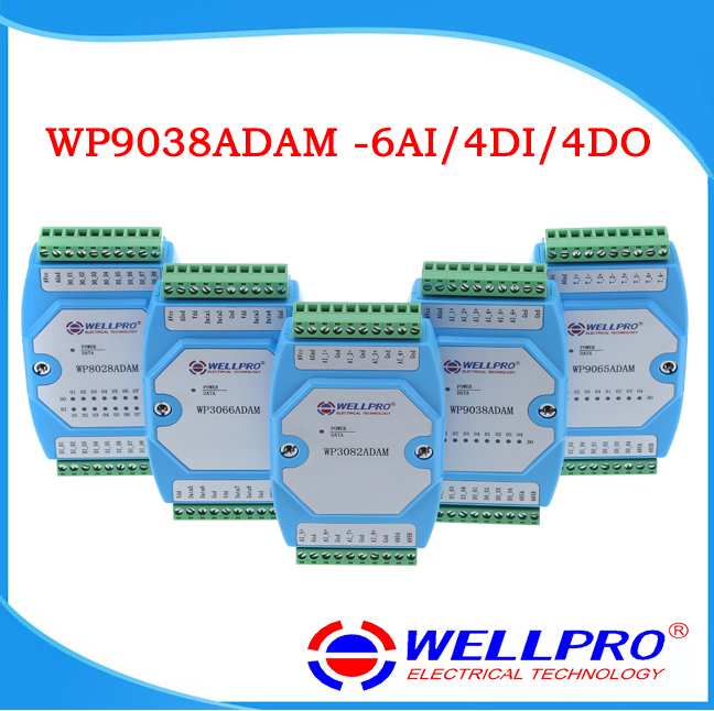 0 20MA 4 20MA Current Acquisition Module 6AI 4DI 4DO MODBUS Communication WP9038ADAM