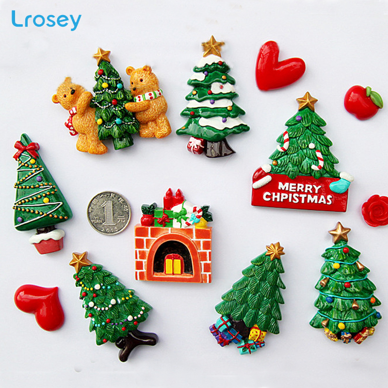 Us 2 0 30 Off Christmas Tree New Year Gift Home Decoration Accessories Magnetic Refrigerator Message Sticker Kitchen Wall Decor Fridge Magnets In