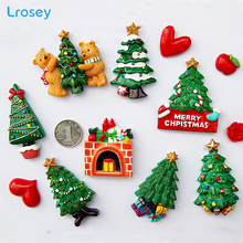Christmas Tree New Year gift home decoration accessories magnetic refrigerator message sticker Kitchen wall decor Fridge Magnets