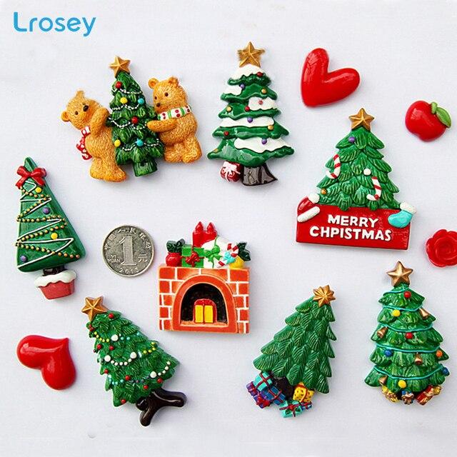 Kerstboom Nieuwe Jaar geschenk woondecoratie accessoires magnetische koelkast bericht sticker Keuken muur decor Magneten