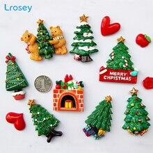 Yılbaşı ağacı yeni yıl hediye ev dekorasyon aksesuarları manyetik buzdolabı mesaj sticker mutfak duvar dekor buzdolabı mıknatıslar