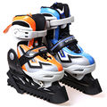 free shipping ice skate shoes children blue color orange color size adjustable