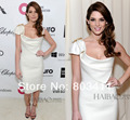 The 86th Academy Awards Oscars Ashley-Greene Red Carpet Gown Sheath Capped Sleeve Celebrity Dresses