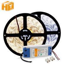 LED Strip 5630 Warm White/Putih/Putih Dingin 5 M 300 LED Fexible Lampu Tahan Air/Nn Tahan Air neon Tape + DC12V Power Driver(China)
