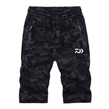 New Camouflage Men Outdoor Sport Fishing Trousers Black Jogging Running Climbing Trekking Short Pant Light Pants