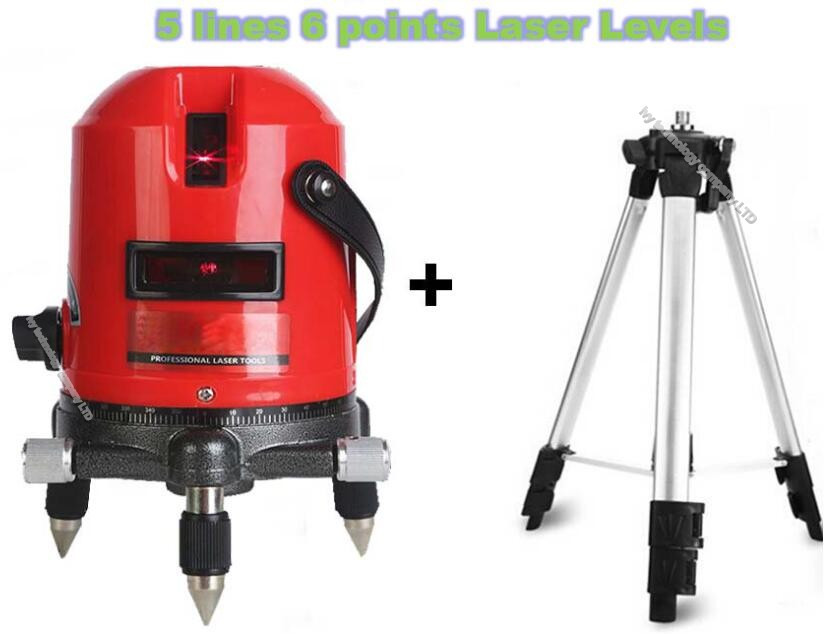 self-leveling laser level 360 rotary cross laser line leveling 5 lines 6 points measuring tool with outdoor mode with tripod (3)