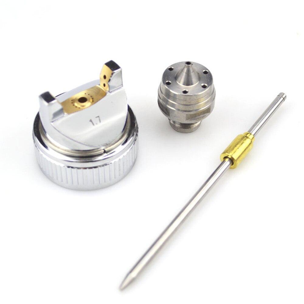 Atacado E Varejo 1.4mm/1.7mm/2.0mm Bico Substituir O Bico Set Kit Para Pistola Hvlp h-827 Mão Pneumático Manual De Tinta Spray