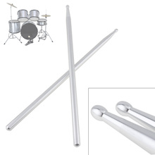 High Quality Professional 5A Aluminium Alloy Drum Sticks for Jazz Drum and Dumb Drum Pad Practicing Strength Endurance Exercises 10 inch dumb drum practice jazz drums exercise training abs drum pad with drum sticks and