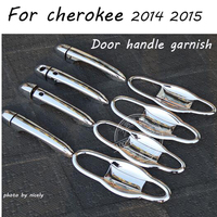 High quality ABS chrome Car accessories door handle cover and door handle bowl cover fit for jeep cherokee 2014 2015
