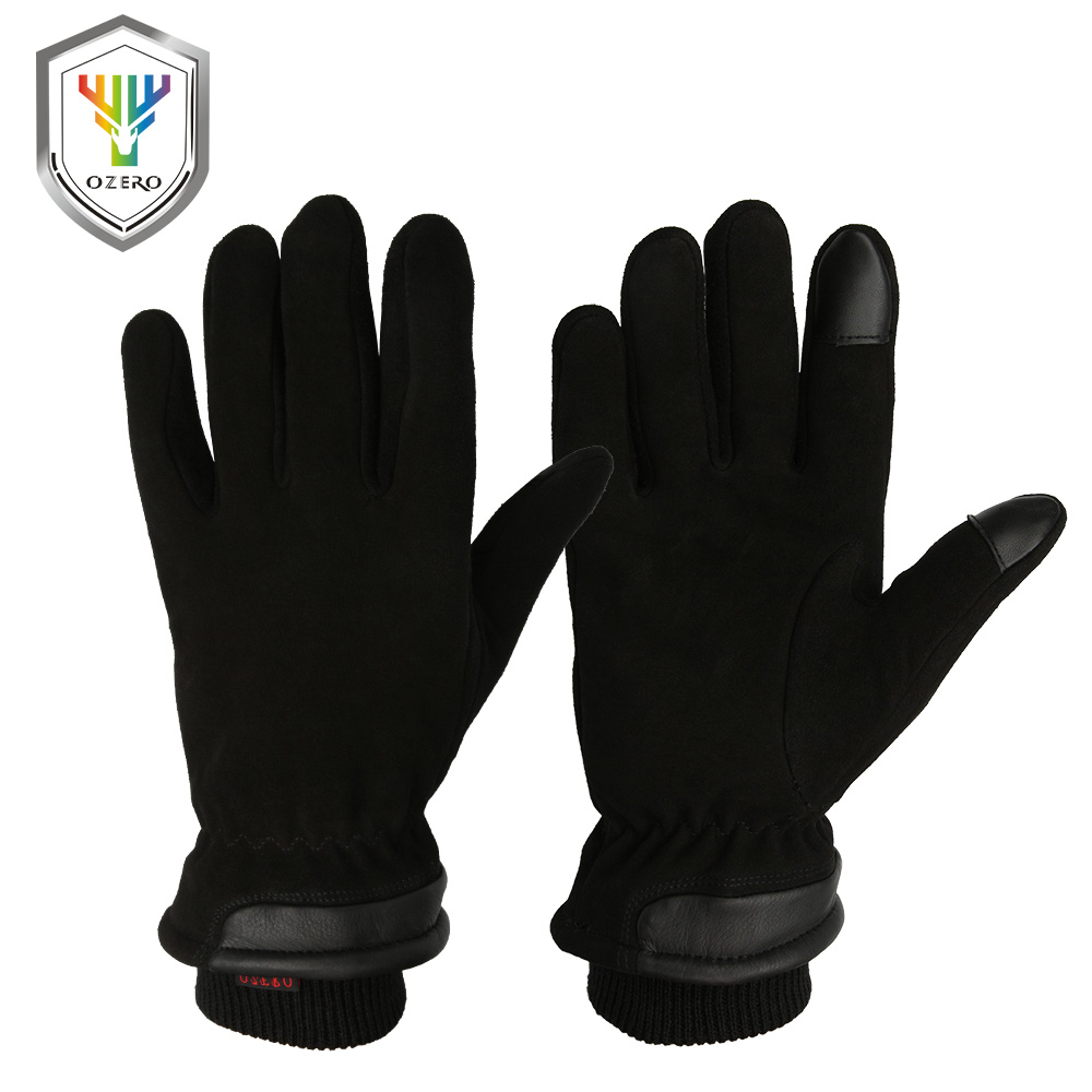 OZERO Men's Deerskin Winter Warm Gloves Work Driver Windproof Security Protection Wear Safety Working Racing Gloves 8012 ozero deerskin winter warm gloves men s work driver windproof security protection wear safety working for men woman gloves 9009