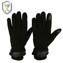 OZERO Men's Deerskin Winter Warm Gloves Work Driver Windproof Security Protection Wear Safety Working Racing Gloves 8012