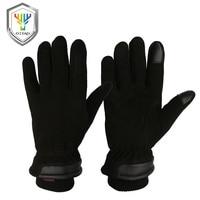 OZERO Men's Deerskin Winter Warm Gloves Work Driver Windproof Security Protection Wear Safety Working Racing Gloves 8012