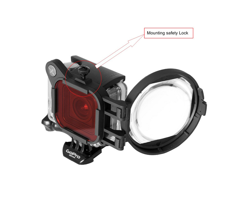 Red Color Correction Filter + 16X Close Up Macro Lens for Gopro Go Pro Hero 4 3 3+ Housing Case Underwater Scuba Lens Filter Kit (6)