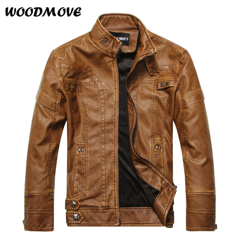 Spring New Fashion Men's Leather Jacket Stand Collar Slim Baseball Jackets Coats High Quality Male PU Leather Clothing Masculina m 3xl hot 2018 spring men s new fashion conventional models slim collar pu leather jacket