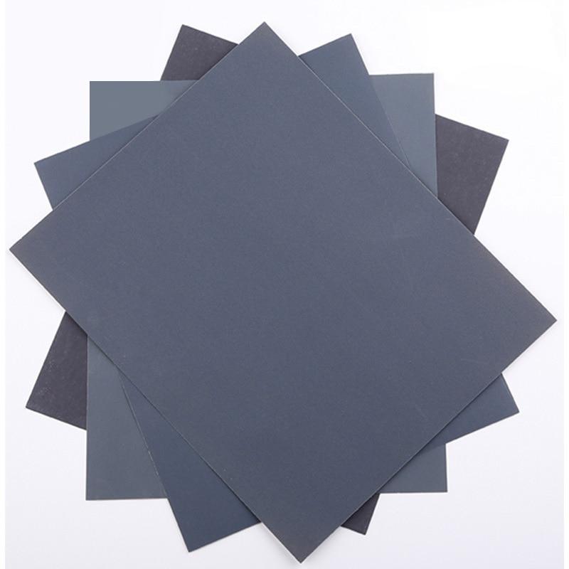 Wet Dry Sandpaper 60 To 7000 Grit Assortment Abrasive Paper Sheets For Automotive Sanding Wood Furniture Finishing 23*28 Cm