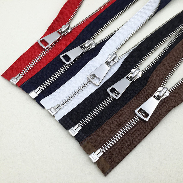 Size5 5 Metal Zipper Copper For Jacket Coat Bags Zip Repair 2pcs 60cm 80cm