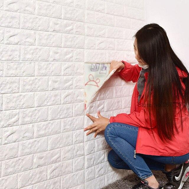 Molto Mattoni carta da parati del PVC 3D della parete del salone stickie  RK85