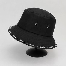 Bucket Hat Cotton Fisherman-Hat Solid-Color Women Outdoor for 446 Sun-Cap Thickening