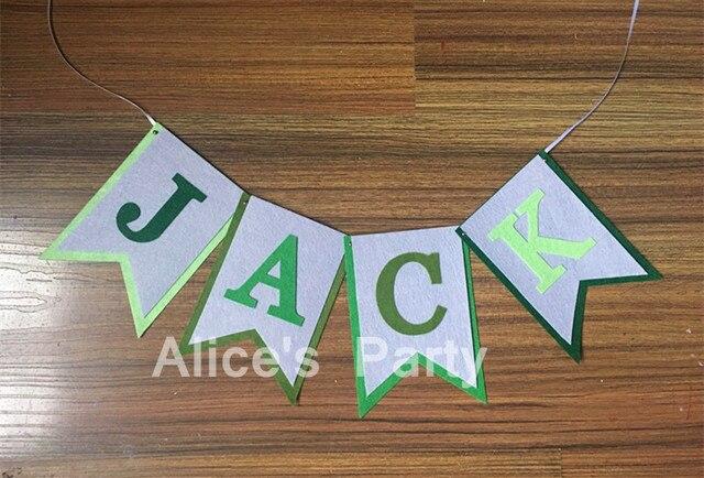 personalised boy baby shower banner name bunting green hulk jungle