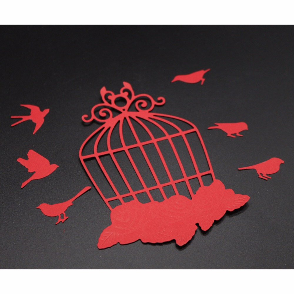 Estel Metal Cutting Dies Cut Birdcage Frame Embossing Scrapbook ...