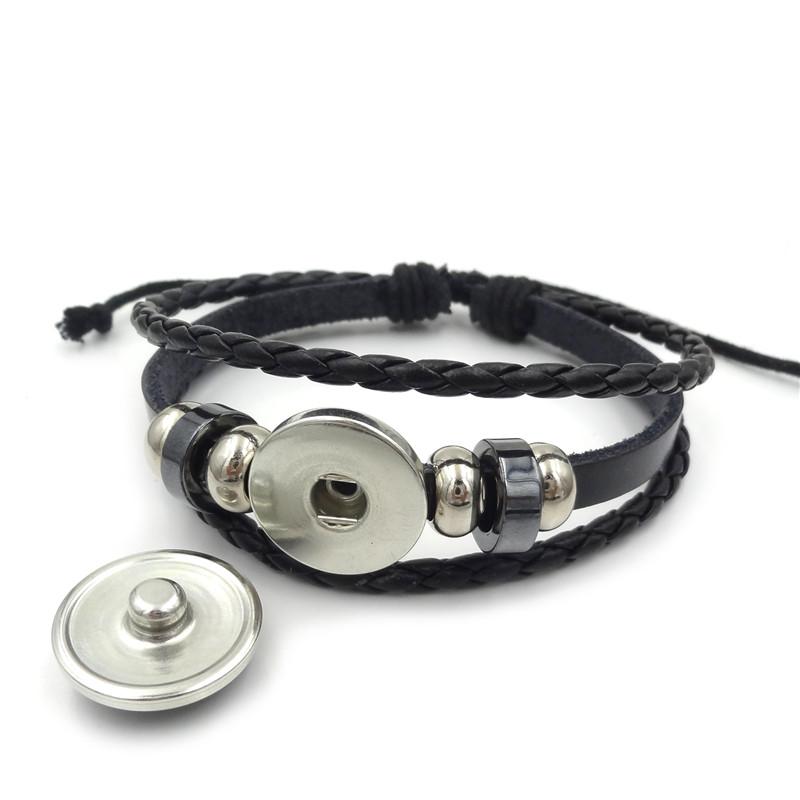 World of Warcraft Braided Leather Bracelet