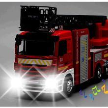 Лидер продаж, большой игрушечный автомобиль, большой инженерный автомобиль, 1:32 Сплав пожарные двигатели, лестница пожарная машина звук и светильник