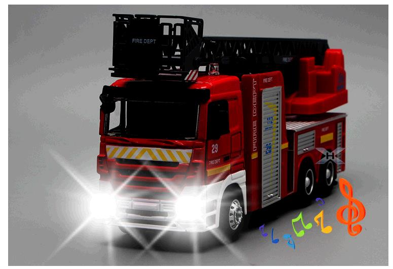 цена Hot sales Big toy car,Large engineering car,1:32 scale alloy Fire engines,Ladder fire truck Sound and light car,wholesale