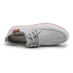 Image 4 - Классические Zapatillas; Новое поступление; сезон весна лето; удобная повседневная обувь; Мужская парусиновая обувь для мужчин; дышащая обувь на плоской подошве со шнуровкой