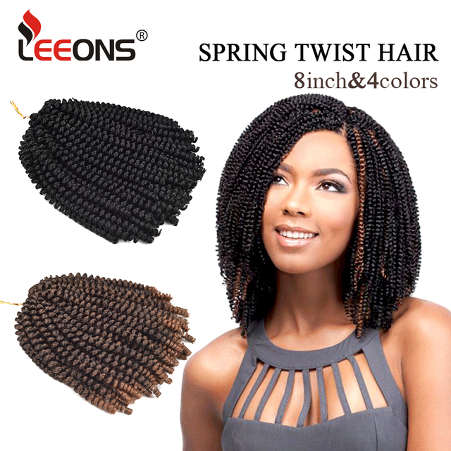 Leeons Por Soft Crochet Braids Ombre Spring Twist Hair Kanekalon Braiding Curly