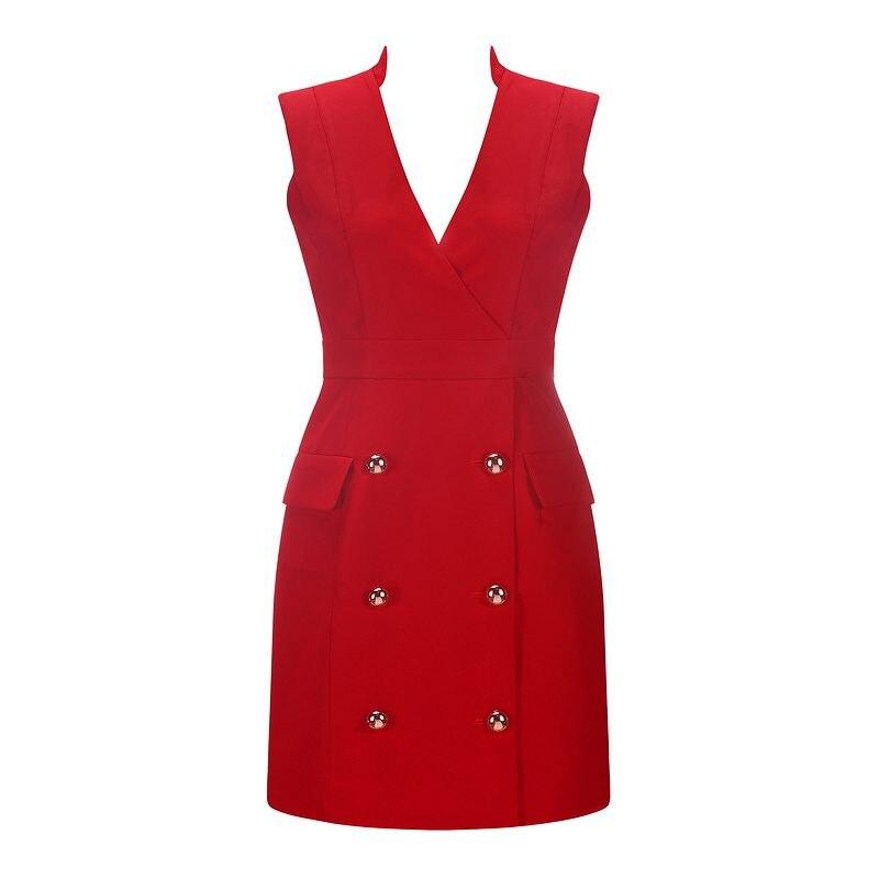 Manches Nouvellement Mode Dames Bouton Sans Dress Mini V Sexy 2019 Femmes Dress Solide Robe Gosexy Maigre red Robes Blue Col D'été wgO5YIqn