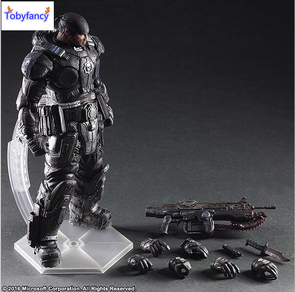 Tobyfancy Play Arts Kai PA Marcus Fenix Game Gears of War 3 War Machine Action Figure Collection Model Toy 260MM xbox one gears of war 4 ultimate