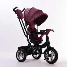 abdo 2019 New Children's Tricycle Baby Walker With Wheels Ride On Car Portable Folding Baby Kids Car Children's Trolley 4 colors baby stroller children car walkers with wheels children trolley slippery car skateboard baby walker scooter