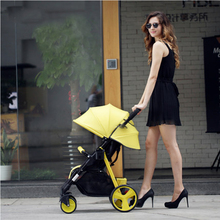 Sally umbrella car baby stroller in the winter and summer of hand can sit and lie folding stroller free shipping to Russia